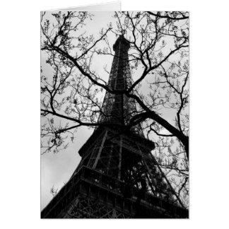 エッフェル塔のパリの空白のなすべての行事の挨拶 グリーティングカード