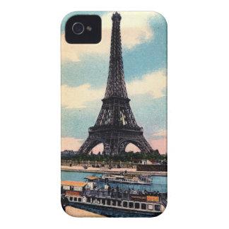 エッフェル塔のパリフランスのヴィンテージ旅行 Case-Mate iPhone 4 ケース