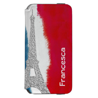 エッフェル塔のパリフランスの赤白青の習慣 INCIPIO WATSON™ iPhone 5 財布型ケース