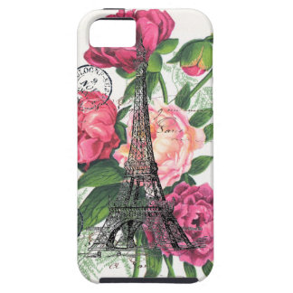 エッフェル塔のフランスのなバラの例 iPhone SE/5/5s ケース