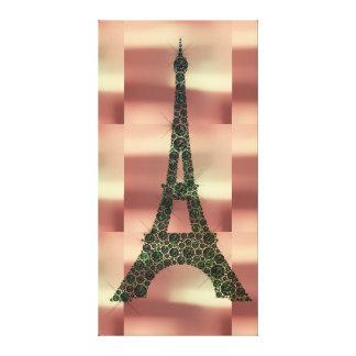 エッフェル塔のフランス人のパリの幾何学の熱帯贅沢 キャンバスプリント