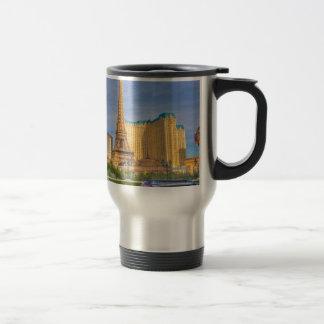 エッフェル塔のラスベガスパリのリムジンネバダ トラベルマグ