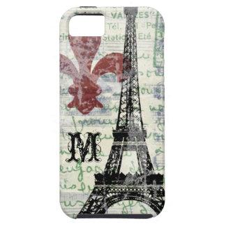 エッフェル塔のヴィンテージのフランスのなiPhoneの場合 iPhone SE/5/5s ケース