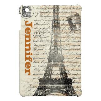 エッフェル塔のヴィンテージのフランス人のiPad Miniケース iPad Miniケース