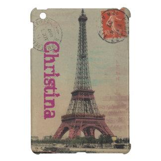 エッフェル塔のヴィンテージのフランス人のiPad Miniケース iPad Mini Case