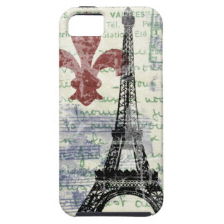 エッフェル塔のヴィンテージのフランス語 iPhone SE/5/5s ケース