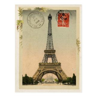 エッフェル塔のヴィンテージの再生 ポストカード