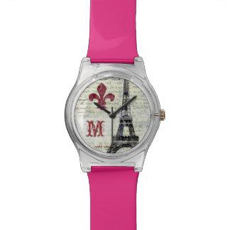 エッフェル塔のヴィンテージ一見の腕時計 腕時計
