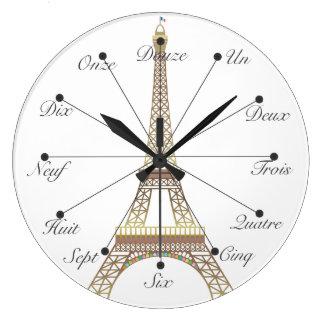 エッフェル塔の大きい柱時計 ラージ壁時計