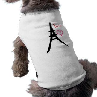 エッフェル塔の子犬のワイシャツ ペット服