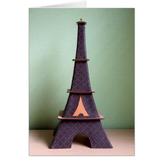エッフェル塔の形をした装飾的な装飾 グリーティングカード