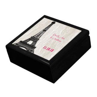 エッフェル塔の模造のな木製の穀物の記念品の宝石箱 ギフトボックス