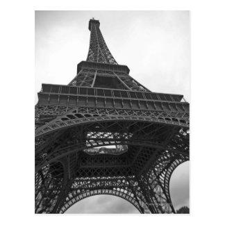 エッフェル塔の白黒写真 ポストカード
