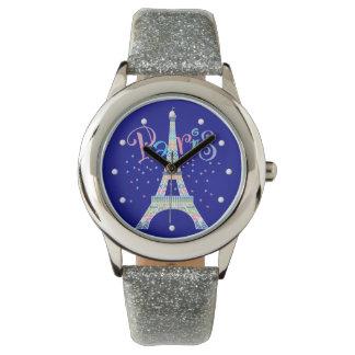 エッフェル塔の紙吹雪の腕時計 腕時計