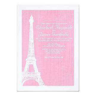 エッフェル塔の結婚式招待状 12.7 X 17.8 インビテーションカード