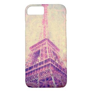 エッフェル塔の芸術の電話箱 iPhone 7ケース