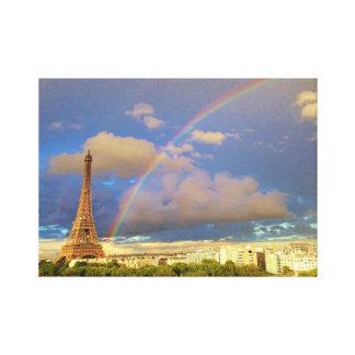 エッフェル塔の虹 キャンバスプリント