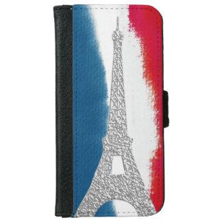 エッフェル塔の赤白青|のフランス語 iPhone 6/6S ウォレットケース