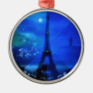 エッフェル塔の青の錯覚 メタルオーナメント