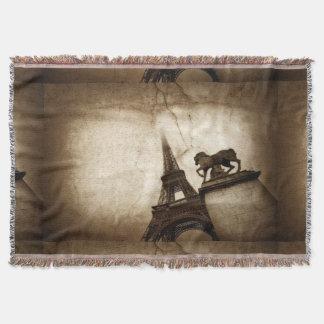 エッフェル塔パリの投球毛布 スローブランケット