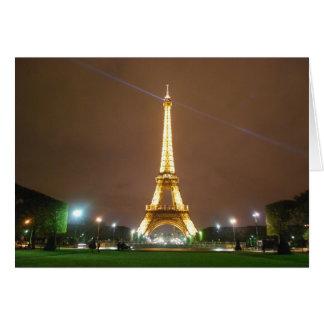 エッフェル塔パリフランス-春の休暇 カード