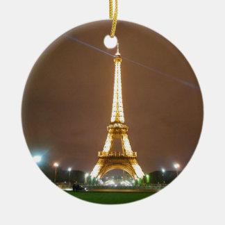 エッフェル塔パリフランス-春の夕べ セラミックオーナメント