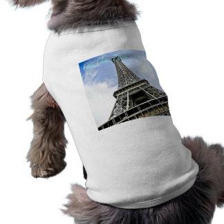 """エッフェル塔犬のワイシャツ- """"ファースト・クラス犬"""" ペット服"""