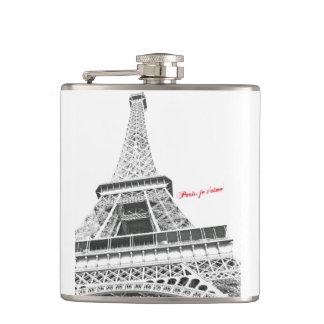 エッフェル塔-パリのjeのt'aimeのフラスコ フラスク