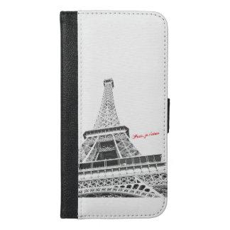 エッフェル塔-パリのjeのt'aimeのiPhoneのウォレットケース iPhone 6/6s Plus ウォレットケース