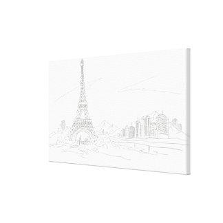 エッフェル塔、パリ キャンバスプリント