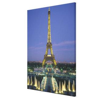 エッフェル塔、パリ、フランス2 キャンバスプリント
