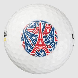 エッフェル塔、フランスパターン ゴルフボール