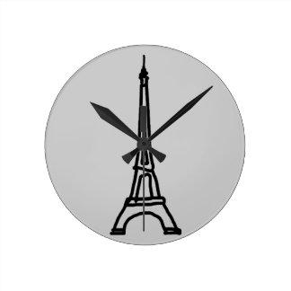 エッフェル塔 ラウンド壁時計