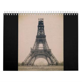 エッフェル塔: 建築1888年の州 カレンダー