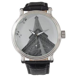 エッフェル塔b/w 腕時計