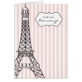 エッフェル塔Merci Beaucoup カード