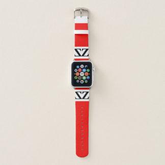 エディーMonte赤いZootedの時間りんごの腕時計によって Apple Watchバンド