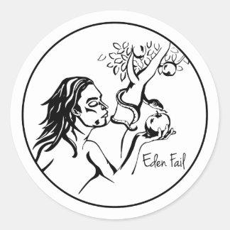 エデンの失敗-イブは庭のAppleを食べます ラウンドシール
