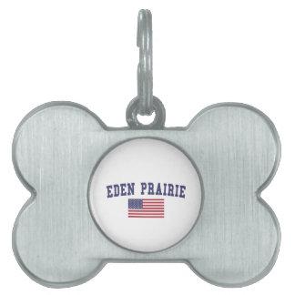 エデンの草原米国の旗 ペットネームタグ