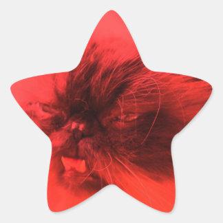 エドの赤いスーパースター 星形シールステッカー