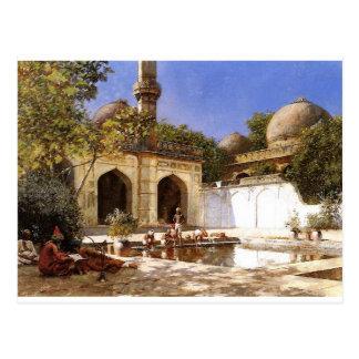 エドウィンの主によるモスクの中庭の姿 ポストカード