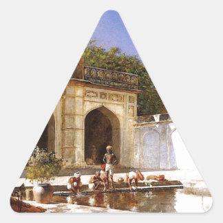 エドウィンの主によるモスクの中庭の姿 三角形シール