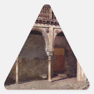 エドウィンの主Weeksによるグラナダの中庭 三角形シール