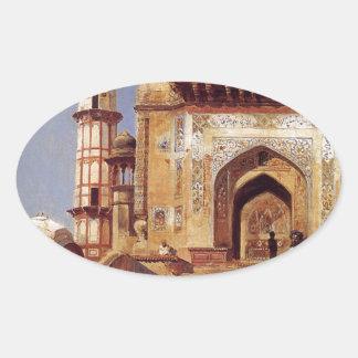 エドウィンの主Weeksによるモスクの前 楕円形シール