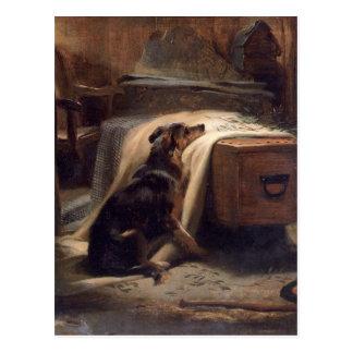 エドウィンヘンリー著古い羊飼いの主な哀悼者 ポストカード