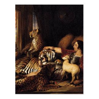 エドウィンヘンリーL著アイザックvan Amburghおよび彼の動物 ポストカード