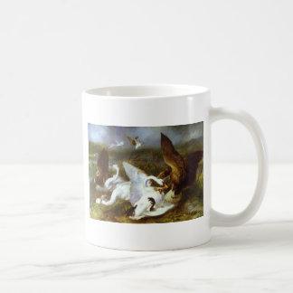 エドウィンヘンリーLandseer著イーグルス著侵入されるSwannery コーヒーマグカップ
