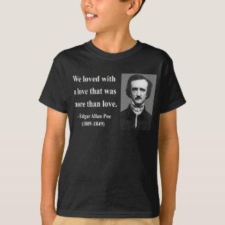 エドガーアレンPoeの引用文12b Tシャツ