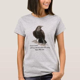 エドガーアレンPoeの精神異常の引用文のヴィンテージの写真 Tシャツ