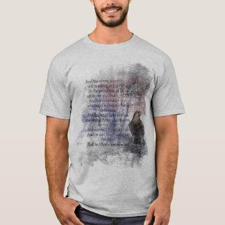 エドガーアレンPoeの詩の引用文ワタリガラス Tシャツ